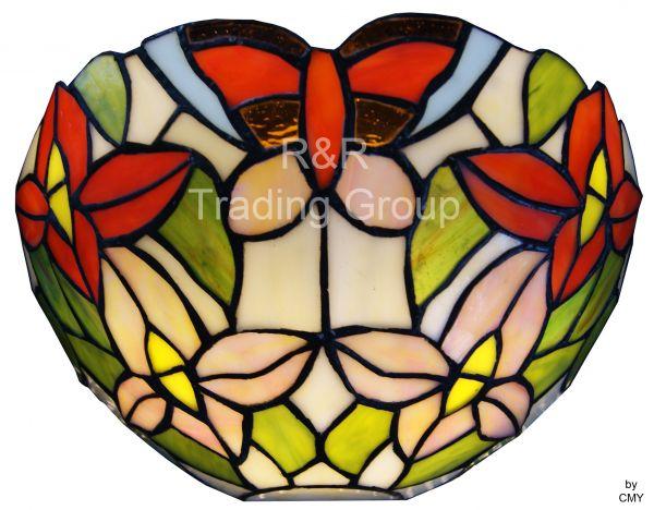 Aplică Tiffany Grădina cu Fluturi și Flori