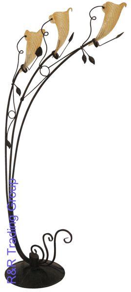 Lampadar retro, cu motiv floral, elegant