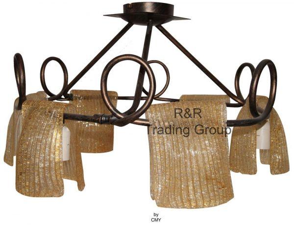 Lustra camera de zi / sufragerie, 6 corpuri de iluminat